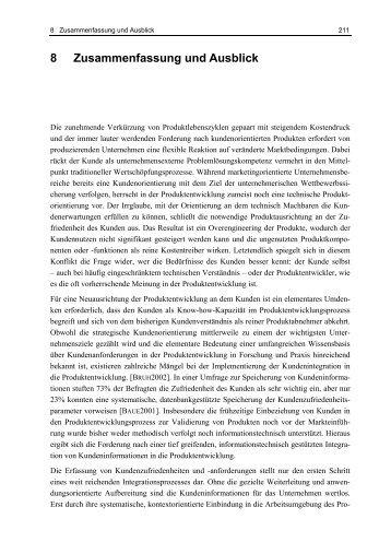 8 zusammenfassung und ausblick ruhr universitt bochum - Zusammenfassung English