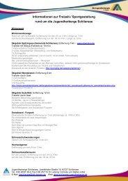 Informationen zur Freizeit-/ Sportgestaltung rund um die ...