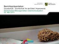 Berichtspräsentation - Grundschule