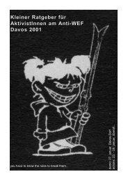 Kleiner Ratgeber für AktivistInnen am Anti-WEF Davos 2001