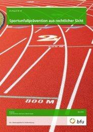 bfu-Report Nr. 67 «Sportunfallprävention aus rechtlicher Sicht