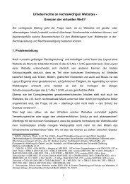 Urheberrechte an rechtswidrigen Websites - Rechtsprobleme www ...