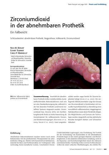 Zirconiumdioxid in der abnehmbaren Prothetik - Zirkonzahn
