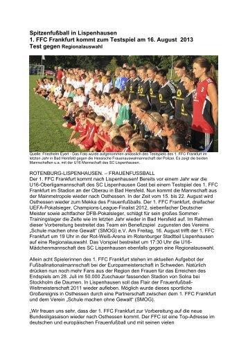 Spitzenfußball in Lispenhausen / 1