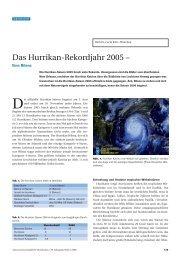 Das Hurrikan-Rekordjahr 2005 – - Naturwissenschaftliche Rundschau