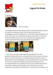Projektdokumentation JuKi - KiFa - Kinder- und Familienbildung