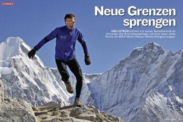 ueli steck klettert mit seiner Speedtechnik im Himalaja. Der ...