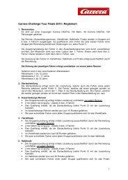 Reglement Finale CCT 2010 - Carrera