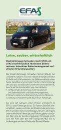 Leise, sauber, wirtschaftlich - EFA-S Elektrofahrzeuge Schwaben ...