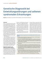 Genetische Diagnostik bei Entwicklungsstörungen und seltenen ...