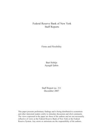 Firms and Flexibility - Federal Reserve Bank of New York
