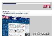 CHIP Online Der Breitband Report 2005/2006 - Excerpt