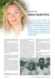 Interview mit Sabina Hankel-Hirtz