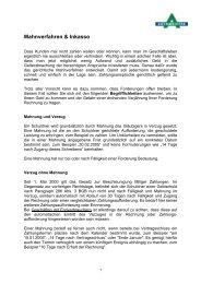 Mahnverfahren & Inkasso - AUTOMEISTER