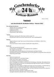 R egelwe rk - 24-Std-Rennen-Geschendorf