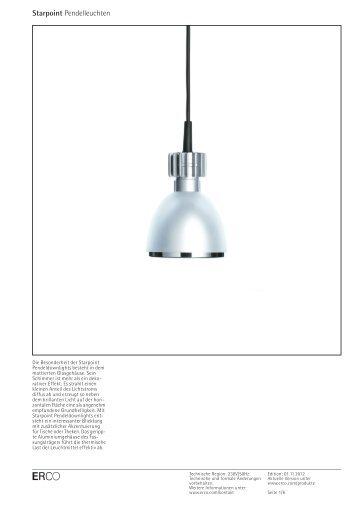 Produkteigenschaften - Erco