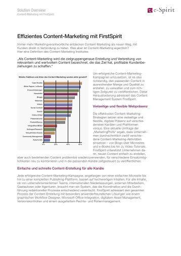Effizientes Content-Marketing mit FirstSpirit - Itartis AG