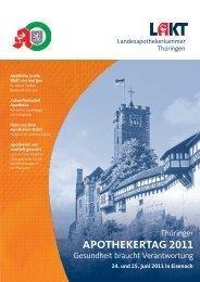 Das Programm zum Thüringer Apothekertag 2011 (pdf, 1169 kB)