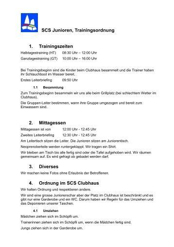 SCSJ Trainingsordnung v5 - Segelclub Sihlsee Einsiedeln