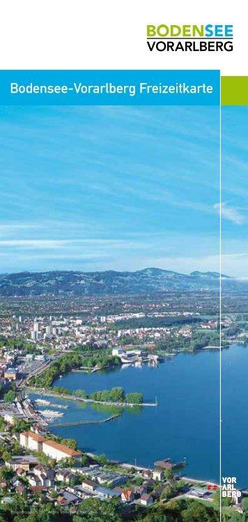 Bodensee-Vorarlberg Freizeitkarte