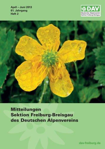 2. Quartal 2013 - Deutscher Alpenverein Sektion Freiburg im Breisgau