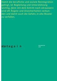 Jahresbericht start again 2009