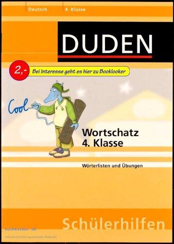 Duden Wortschatz 4. Klasse