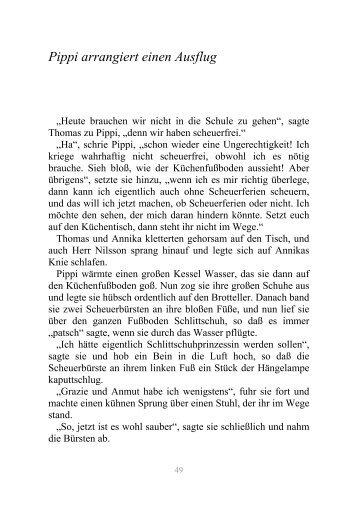 Pippi arrangiert einen Ausflug - limba germana