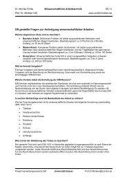 Oft gestellte Fragen zur Anfertigung ... - Universität Kassel