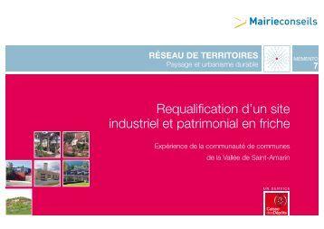Requalification d'un site industriel et patrimonial en friche