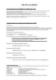 HSR VPN und CADENCE