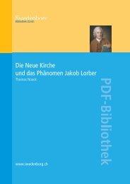 Die Neue Kirche und das Phänomen Jakob Lorber - Swedenborg ...