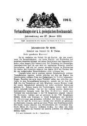 Verhandlungen der t k. geologischen Reichsanstalt.