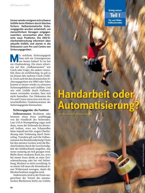 Handarbeit oder Automatisierung? Handarbeit oder Automatisierung?