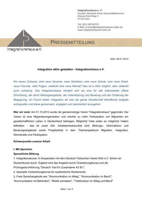 Pressemitteilung Integrationshaus Evpdf