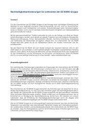 Nachhaltigkeitsanforderungen für Lieferanten der DZ ... - DZ Bank AG