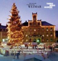 Programm - Klassik Stiftung Weimar