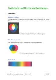 Multimedia und Kommunikationsdesign