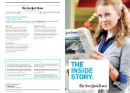 THE INSIDE STORY. - The New York Times Marketing Portfolio