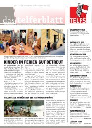 Telferblatt 189 vom 18.06.10 - Marktgemeinde Telfs