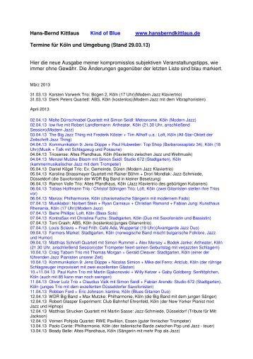 (Stand 29.03.13) Hier die neue Ausgabe - Hansberndkittlaus.de