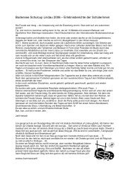 Bodensee Schulcup Lindau 2006 – Erlebnisberichte der Schülerinnen