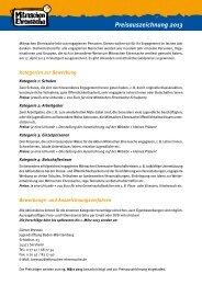MME Ausschreibung Preisauszeichnung 2013 (pdf) - Mitmachen ...