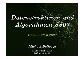 13. Übung 27. Juni 2007 (pdf)