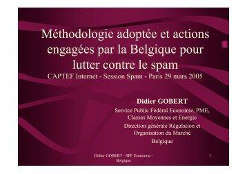 Méthodologie adoptée et actions engagées par la Belgique pour ...
