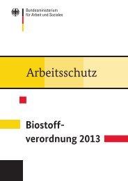 Biostoffverordnung (Broschüre) [PDF, 105KB] - Bundesministerium ...