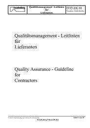 Qualitätsmanagement - Leitlinien für Lieferanten Quality Assurance ...