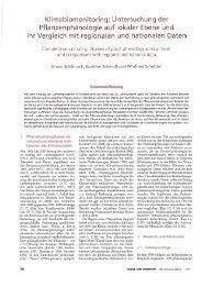 Klimabiomo itoring: Un ersuchung der Pflanzenphänologie ... - GLOBE