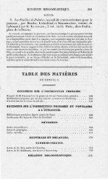 TABLE DE S MATIERE S - INRP