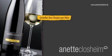Rezept zum Wein - Anette Closheim